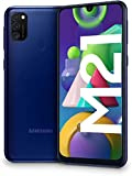 SAMSUNG Galaxy M21 - Smartphone Dual SIM de 6.4' sAMOLED FHD+,Ttriple Cámara 48 MP, 4 GB RAM, 64 GB ROM Ampliables, Batería 6000 mAh, Android, Versión Española, Color Azul