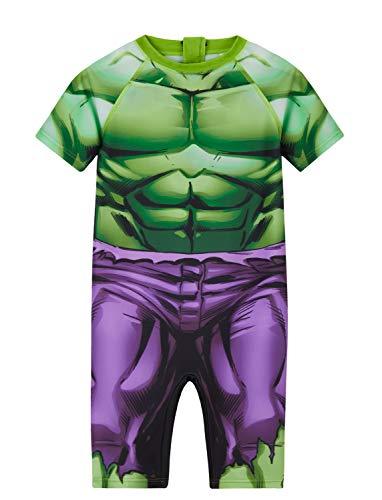 Marvel Spiderman Hulk Costume da Bagno Bambino, Muta per Mare E Piscina 18 Mesi - 8 Anni, Abbigliamento Ufficiale (Verde, 2-3 Anni, 2_Years)
