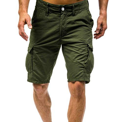 Mannen Cargo Shorts Casual Sport Strand Korte Broek Surfen Sweatpants SweatShorts M ~ Festival Jeune Gifts Leger Zwart