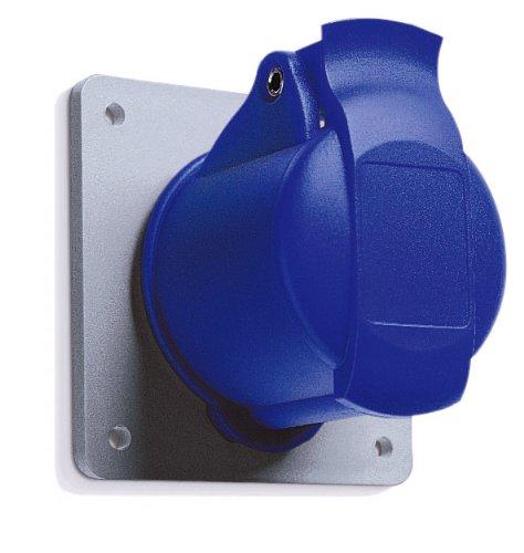 MK Commando K9401 - Presa a spina da 16 Amp 2P+E 200-250 Volt (IP44), colore: blu