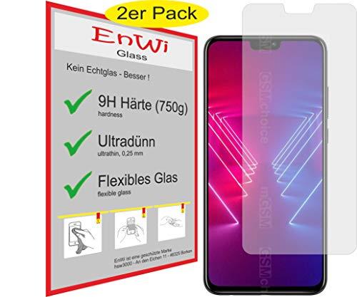 EnWi | 2X Panzer-Glas-Folie 9H Display-Schutz-Folie für Huawei Honor View 10 Lite