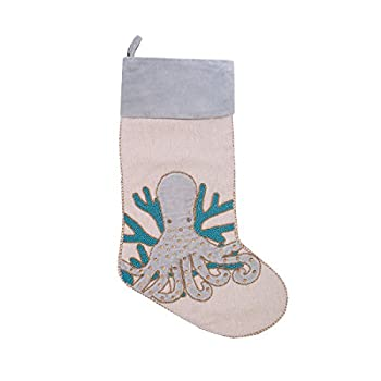 C&F Home Holiday Serenity Octopus Stocking Stocking Blue