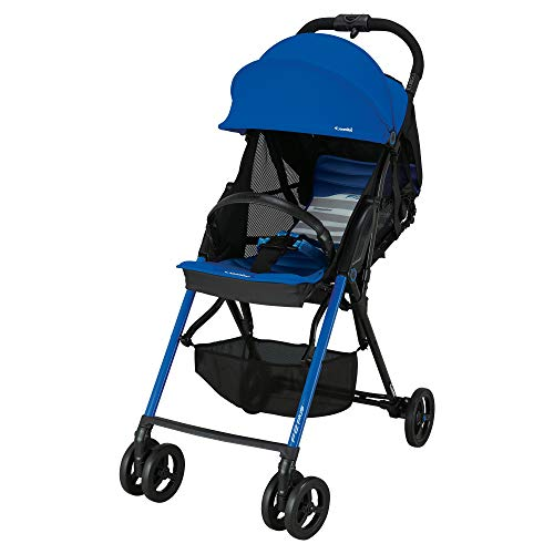 Combi Ultra Lightweight F2 AF Plus Umbrella Stroller   8.25 Lbs Total Weight   Reclining Back & Shock-Absorbing Frame   One-Touch Harness w/Full Mesh Seating   Easy Lock Wheels & XL Canopy   Blue