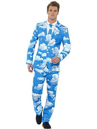 Smiffys, Herren Sky High Anzug, Jackett, Hose und Krawatte, Größe: L, 40086