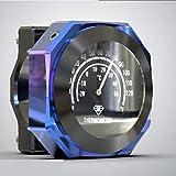 JenNiFer 7/8'1' Accesorio De La Motocicleta Reloj De Montaje del Reloj Y Termómetro - Azul