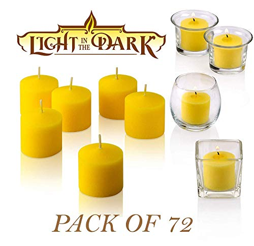 Set of 72 Votive Citronella Candles - Summer Scented Candles Scare Away Mosquito, Bug and Flies- for...