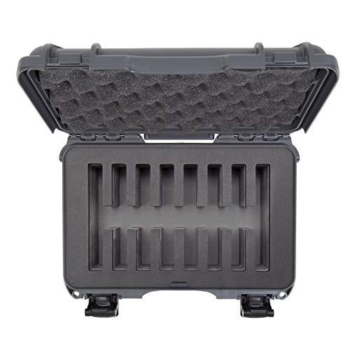 Nanuk 909 Waterproof Hard Case with Custom Foam Insert for 8 Pocket Knives - Graphite