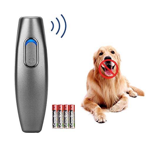 Ultraschall Hunde Repeller und Trainer Gerät 100% sanft & sicher Anti Bellen Stop Rinde Handheld Hunde Trainingsgerät Anti-Bell Ultraschall Gerät für Hunde Bellkontrolle (Grau A1)