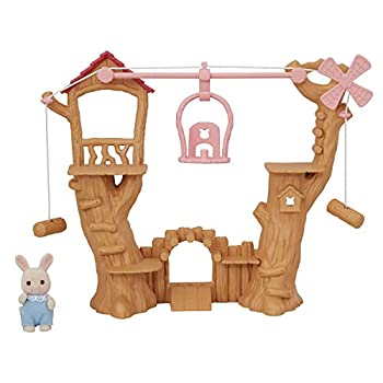 Calico Critters Baby Ropeway Park Collectible Dollhouse Toy with Sweetpea Rabbit Figure Included