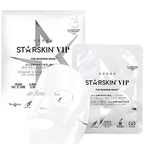 STARSKIN Vip The Diamond Illuminating Luxury Bio Cellulose Second Skin Face Mask