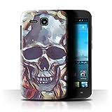Stuff4 Hülle/Hülle für Huawei Ascend Y600 / Calacas Schädel Maske Muster/Tag Der Toten Festival Kollektion
