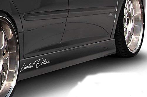 Generic Edition Limitée Autocollants pour Voiture Set 2 Pièces Étiquette Protection Tatouage Vinyle Badge Emblème Motorsport 01 - Gris argenté Brillant