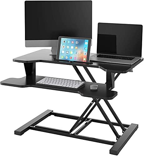Sitz Steh Schreibtisch höhenverstellbar...