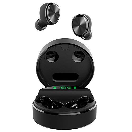 yobola Auriculares Inalambricos, Auriculares Bluetooth 5.0 24H Reproducción 3D Stereo HD Auriculares Inalámbricos, Control Táctil