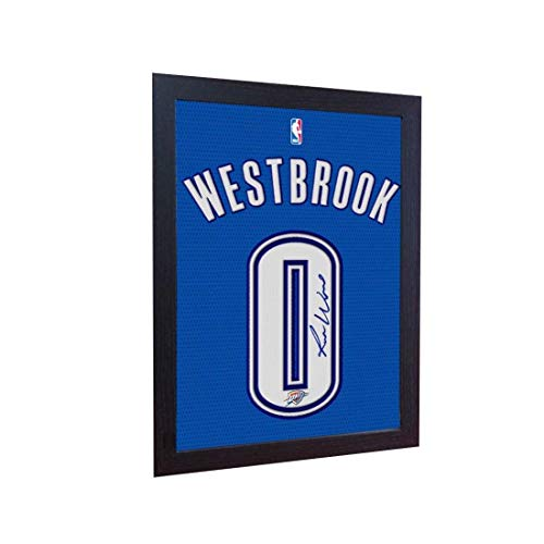 S&E DESING Russell Westbrook OKC Signed Autograph NBA Printed on Canvas 100% Cotton Framed