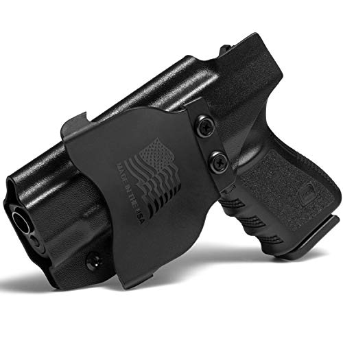 Concealment Express OWB Paddle KYDEX Holster fits Glock 17/19/19X/22/23/26/27/31/32/33/45 (G1-5) | Right | Black