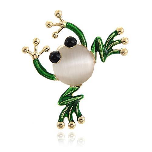 Fliyeong Dauerhafte niedliche Frosch-Insekten-Brosche-bunte Hochzeits-Brosche-Modeschmuck-Geschenk