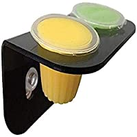 Designed to fit Komodo Jelly Pots. Strong suction cups enable secure mounting in most habitats. Prevents pots from being knocked into substrate. designed to fit komodo jelly pots. strong suction cups enable secure mounting in most habitats.