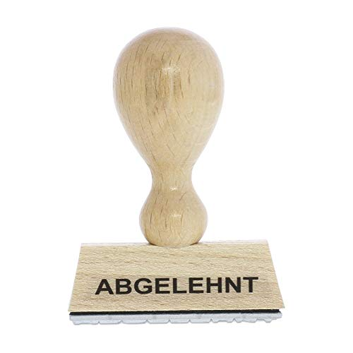 Holzstempel ABGELEHNT (50x10 mm - 1 Zeile)