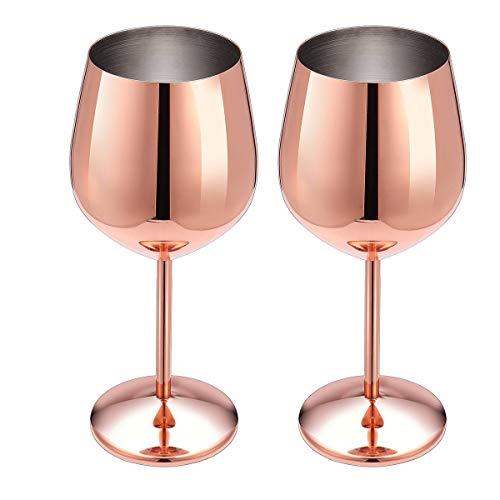 Rotweinglas aus Edelstahl mit Metallstiel, bruchsicher, für Weißwein und Cocktails, unzerbrechlich, BPA-frei, Kelch, für Saft, Getränke, Champagner, Party, Bar, Küchenwerkzeug