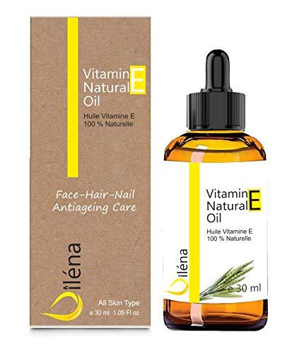 Aceite de vitamina E (tocoferol) 100% natural Vegano, Cuidado facial antienvejecimiento, Desmaquillador...