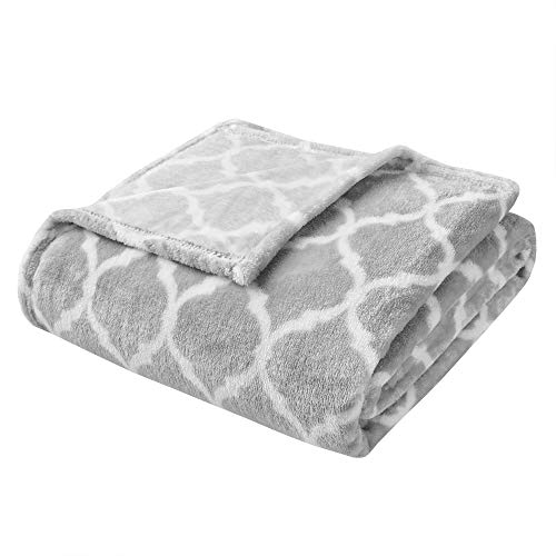 Madison Park Ogee Luxury Oversized Throw Grey 6070    Premium Soft Cozy Microlight For Bed Coach or Sofa
