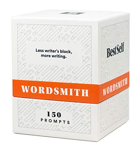 BestSelf WordSmith Deck — 150 Intellectually Stimulating Writing Prompts Designed to Inspire Journaling, Cure Writer's Block, Cultivate Creative Writing and Sharpen Writing Skills