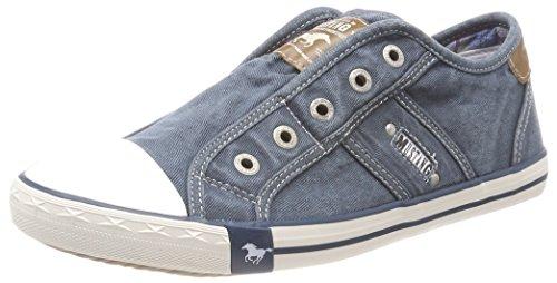 Mustang Damen 1099-401 Slip On Sneaker, Blau (Blau/Grün), 41 EU