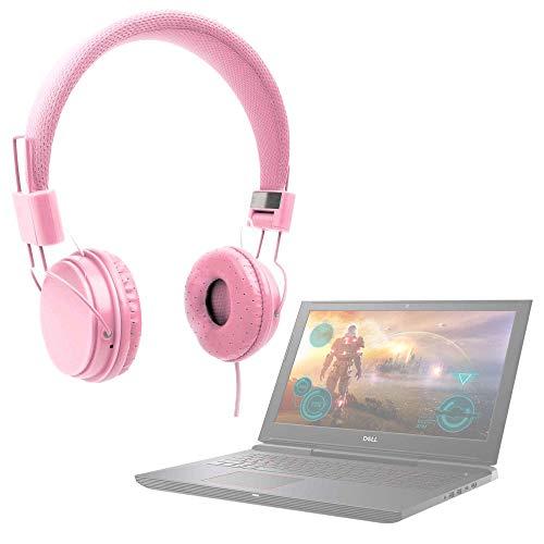 DURAGADGET Auriculares De Diadema Color Rosa para Portátil DELL G7 15 Gaming, DELL XPS 13 9360