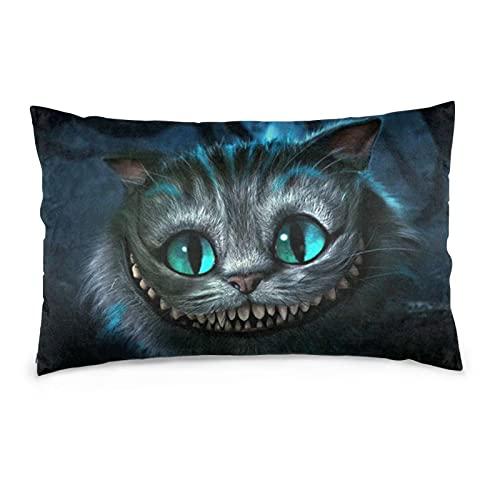 Cat Che-shire 3D Animal Ali-ce souvenir Fundas de cojín Throw Funda de almohada cosas con impermeable dormitorio sofá conjunto Pascua
