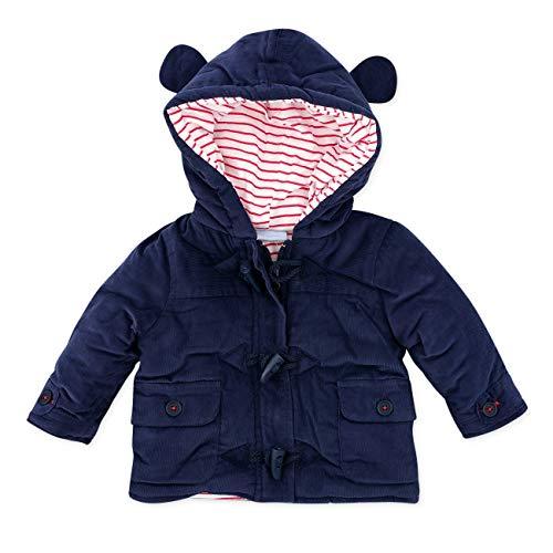 Rock A Bye Baby Jacke mit Kapuze Jungen navy | Motiv: Dufflecoat | Winter Jacke für Neugeborene & Kleinkinder | Größe: 12-18 Monate (86)