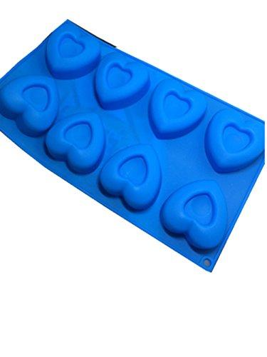 JUNGEN Forme de Coeur Moule à Gateau Coque en Silicone Chocolat Candy Moules de Cuisson à Plateaux pour Muffins Cupcake Pudding Gelée (Coeur 2)