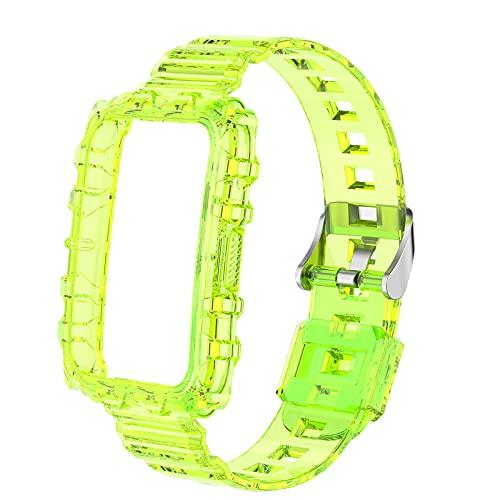 F Fityle Cinturino Sportivo sostitutivo in TPU Morbido per Watch Fit Smart Watch Bracelet (Ritagli precisi consentono Un Facile Accesso a Tutte Le Porte - Giallo