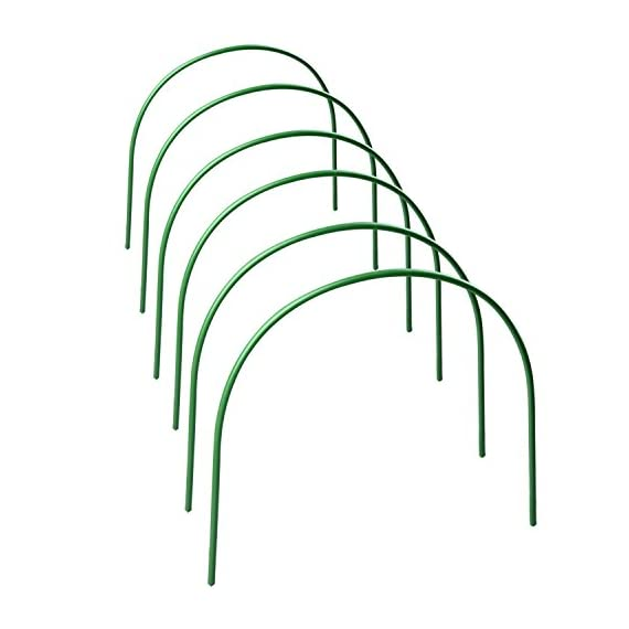 F. O. T 6pcs greenhouse hoops rust-free grow tunnel tunnel, 4ft long steel with plastic coated plant supports for garden… 5 ►material--high-qualityplasticcoatedsteelpipe,noteasytorust,canbeusedforalongtime. ►size--curvedtubelong120cm/4ft(thesizebeforebending),wide50cm/19. 7inch,high48cm/18. 9inch(thesizeafterbending),tubediameter11mm/0. 43inch. eachpackagecontains6hoops. Gardenfabricnotincluded. ►easytosetup--comescompletewithsharpenedpointsonbothsidesforeaseofplacement. washable,reusable,flatforstorage. createsafavorablemicroclimateforyourplants.