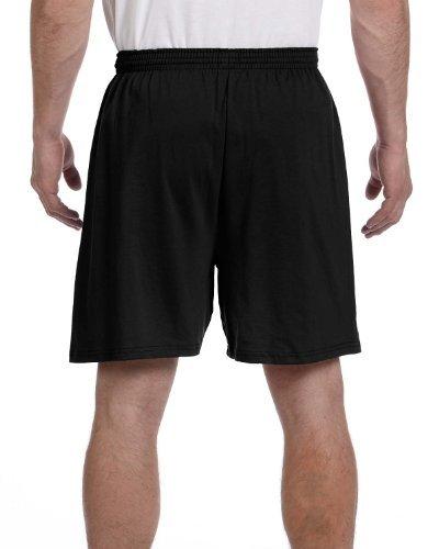 Champion 6 oz. Cotton Gym Short (8187) Black, XL