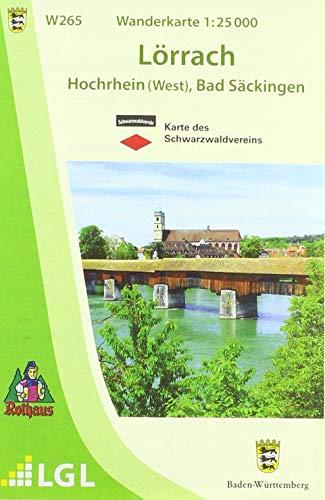W265 Wanderkarte 1:25 000 Lörrach: Hochrhein (West), Bad Säckingen