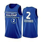 CXJ NBA Men's Jerseys - NBA 2021 All-Star Los Angeles Clippers # 2 Kawhi Leonard Basketball Jersey, Fresco Tops Bordados Transpirables Camisetas Swingman,S(165~170CM/50~65KG)