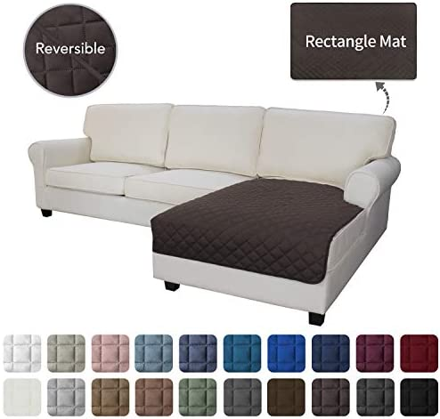Best Easy-Going Sofa Slipcover L Shape Sectional Couch Cover 42 x 68 inches Rectangular Chaise Lounge Cov