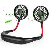 Neck Fan Personal Portable Fan USB Fan Mini Rechargeable Small Fan Neckband Fan Hands Free Wearable Sport Fan