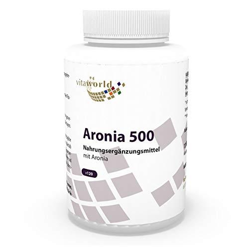 3er Pack Vita World Aronia 500mg 360 Kapseln Apotheker-Herstellung