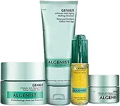 Algenist Pure GENIUS Collection Kit - Liquid Collagen, Ultimate Anti-Aging Melting Cleanser, Eye Cream & Face Cream - Non-Comedogenic & Hypoallergenic Skincare (4 Piece Skincare Set)