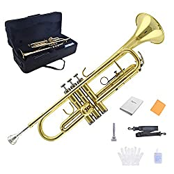 TRUMPET - Apelila Bb Key Brass Gold Lacquer with Care Case