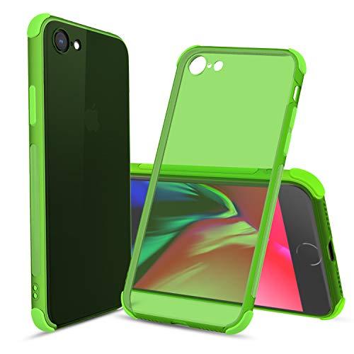 Cbus Wireless Flex-Gel-Schutzhülle aus TPU-Silikon, transparent, ultradünn, mit Stoßfänger, kompatibel mit iPhone SE (2020) & iPhone 8 & iPhone 7 (grün)