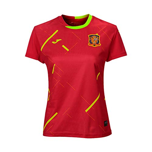 Joma España Fútbol Sala Femenino Primera Equipación 2020 Mujer, Camiseta, Rojo, Talla...