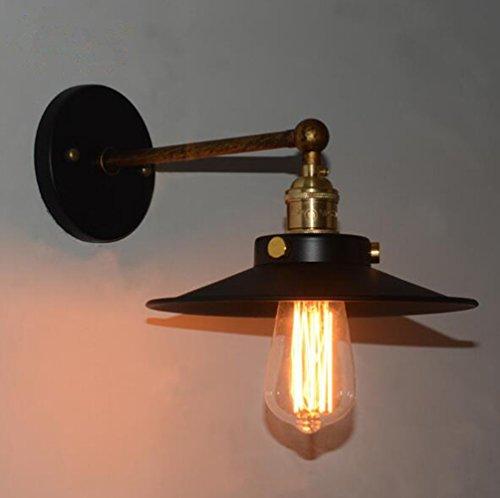 Retro Apliques de Pared Lámpara, Vintage Lámpara de Pared, Industrial Apliques Diseño de Metal Ajustable E27 Socket Retro...