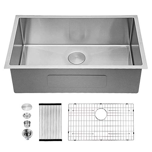 Fantastic Deal! Stainless Steel Kitchen Sink - Sarlai 30 Inch Kitchen Sink Undermount 16 Gauge R10 T...