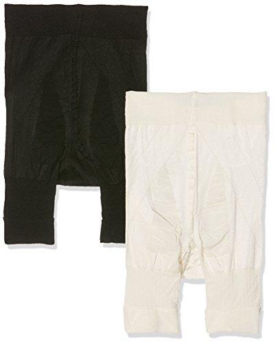 Ulla Popken Panty 2er Pack Culotte Gainante, Noir (Multicolor 90), 56 (Taille Fabricant: 54+) (Lot de 2) Femme