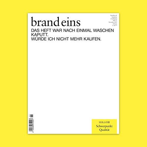 brand eins audio: Qualität Titelbild