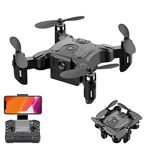 UPANV Mini Drone, RC Foldable Nano Pocket Quadcopter with Auto Hovering, Headless Mode, 3D Flips, One Key Return, 3 Speed Adjustment and A Extra Batteries,4k