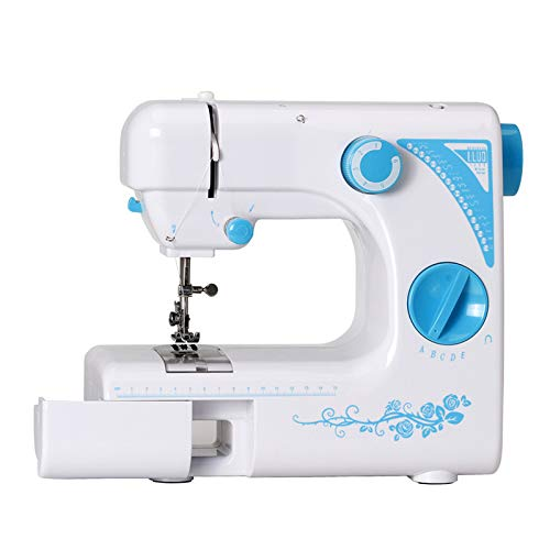 OMLTER Electric Sewing Machine Household Portable Tailoring Machine with 19 Stitch Foot Pedal...